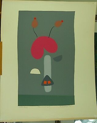 Silkscreen Print Canadian Ontario Artist Irving Osterer Titled Rear View Bicycle