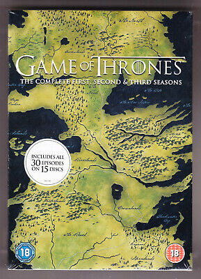 GAME OF THRONES - COMPLETE FIRST SECOND THIRD SEASONS - 15xDVD Set - New/Sealed