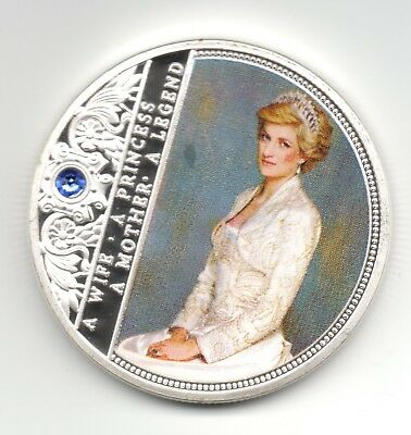 Princess Diana Silver Coin Legend Gem Painting Autograph William Harry Mother UK