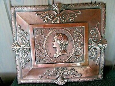 Beautiful Ancient Bronze Decorative Plaque Greek Profile