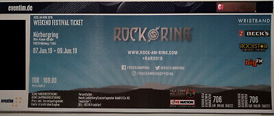 Rock am Ring Ticket 2019, 7-9 Juni 2019 am Nürburgring