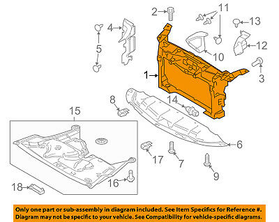 Ford F150 F250 F350 Bronco Radiator Core Support Frame