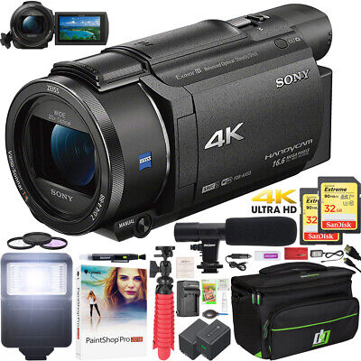 Sony FDR-AX53 4K Ultra HD Handycam Camcorder FDRAX53/B Video Camera Deluxe Kit