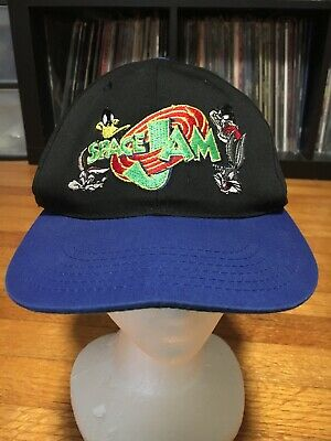 check out 16fa0 f6eeb Vintage 1996 Space Jam Snapback Hat Cap Michael Jordan Looney Tunes