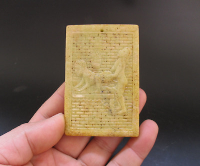 Old Chinese,noble collection,manual sculpture,jade,Man Woman Art,pendant Y5110