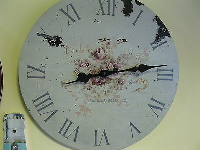 Large Wall Clock 36 Nostalgic Clock Antique Style Kitchen Clock Roses