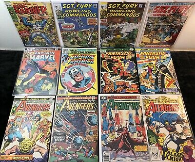 Vintage Bronze Age Marvel Mixed Lot Of 12 Comic Books: Mid To Higher Grade!Look!