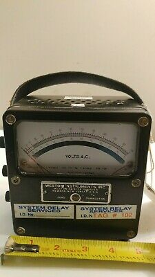 Weston Instruments Inc. Model 433 Voltage Tester Meter Newark New Jersey
