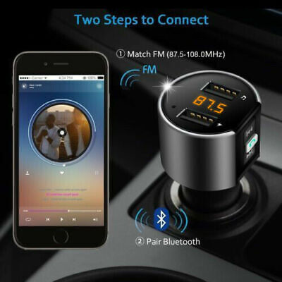 Wireless Bluetooth FM Transmitter Adapter Car Kits USB Charger Audio Receiver