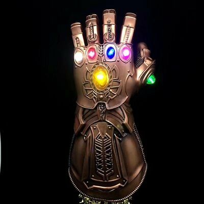 New Avengers Infinity War Infinity Gauntlet LED Light Thanos Gloves Cosplay Prop