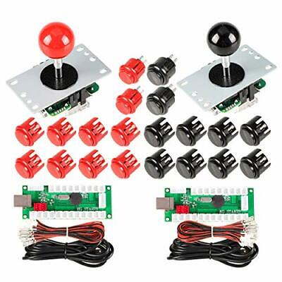2 Player Arcade Buttons Joystick DIY Kit Parts Include  for PC MAME Raspberry