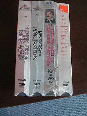 Set of 4 Classic VHS tapes Pink Panther