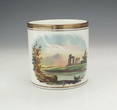 Antique English China - Hand Painted Ancient Ruins Decorated Tankard