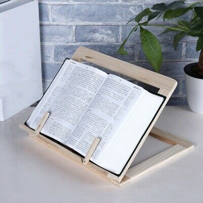 Wooden Book Stand Book Holder Tray, Page Paper Clips, Cookbook Reading Bookstand