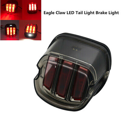 Motorcycle Eagle Claw LED Light Smoke Tail Light License Plate Lamp For Harley