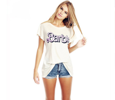 1a5ea8a0d Kawaii Barbie Female Women T-Shirt 100% Cotton High Quality Casual Top For  Lady