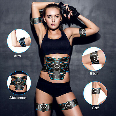 8 Pads Abdominal Muscle Toner EMS Muscle Stimulator Electronic Muscle Trainer UK