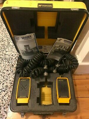 Topcon 9142 Sonic Tracker II Kit Case Grader Paver System Four System Five