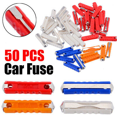 100x 5a Continental Fuses Torpedo Ceramic Fuse 5amps 5 amps Car Boat HGV Yellow