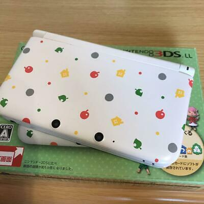 Nintendo 3DS LL Animal Crossing Limited Edition & Tobidoshi Animal Forest F/S 1