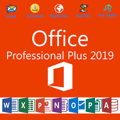 Office 2019 Pro Plus 32/64 Bit License Genuine For 1 PC