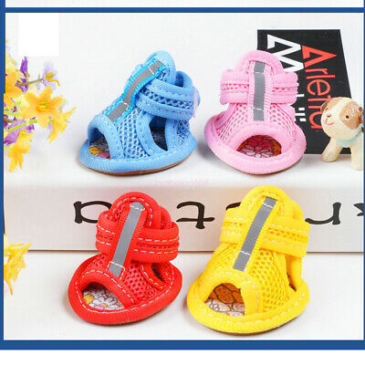 4Pcs Pet Dog Puppy Summer Mesh Sport Small Shoes Sneakers Sandals Boots