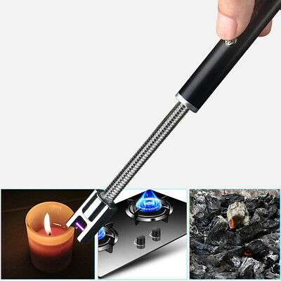 Durable Electric USB Rechargeable Kitchen Windproof Arc BBQ Flameless Lighter
