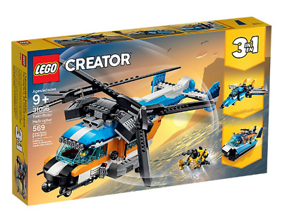 Lego Creator 3 in 1 31096 Twin-Rotor Helicopter ~ NEW ~