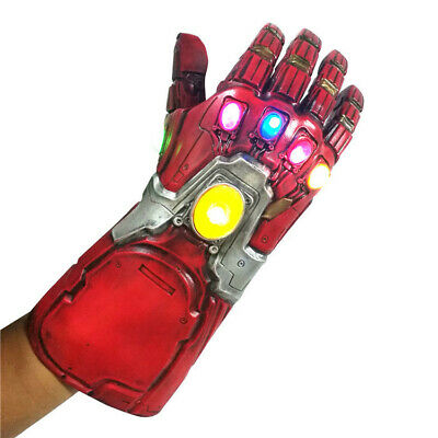 Iron Man Infinity Gauntlet LED Light Gloves Avengers Endgame Tony Stark COS Prop