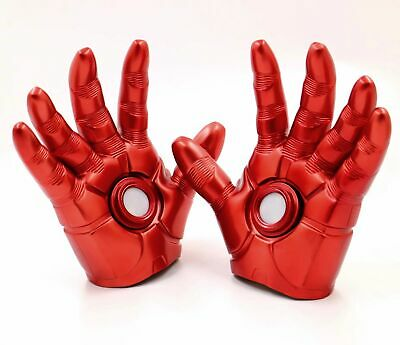 Avengers Tony Stark Iron Man Gloves White Light Cosplay Prop A Pair Red Gloves