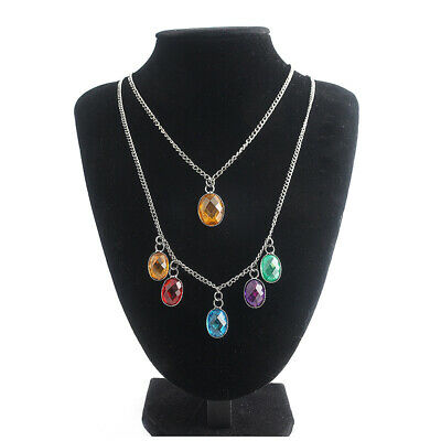Avengers: Endgame Thanos Infinity Stones Necklace Cosplay Accessory Jewelry Gift