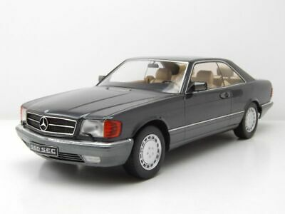 Mercedes 560 SEC C126 1985 anthrazit metallic Modellauto 1:18 KK Scale