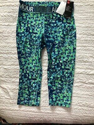 Under Armour Girls Youth XL Fitted Crop Capri Pants Leggings