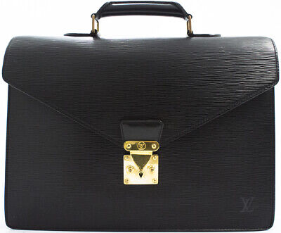 dc99cd193caa0 Louis Vuitton Epi Serviette Voyage Briefcase Business Bag Aktentasche  Tasche Rar