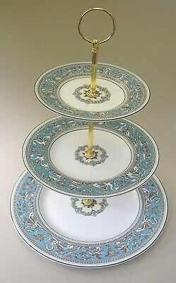 Wedgwood Turquoise ' Florentine ' - Three Tier Cake Stand - First Quality  W2714