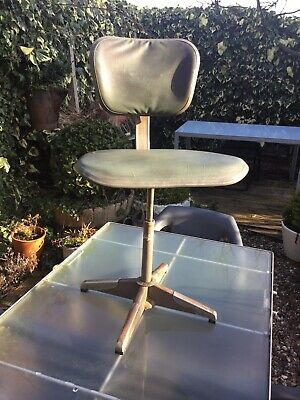 Vintage Evertaut Machinist Swivel Chair  Factory Chair Mid Century Industrial