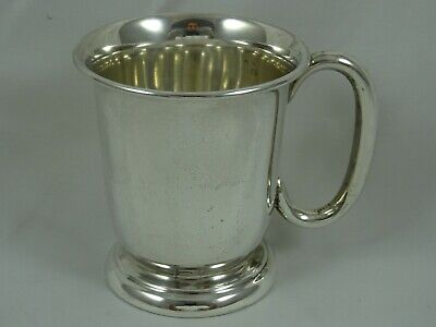 SMART solid silver CHRISTENING MUG, 1959, 92gm
