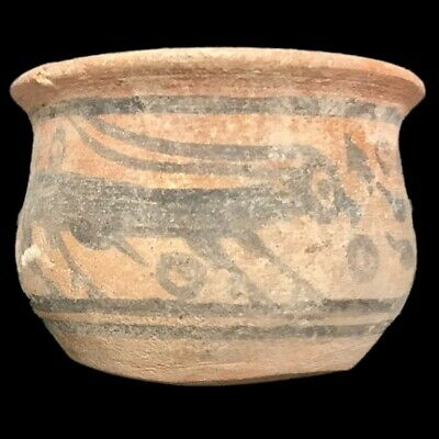 Roman Indus Valley Polychrome Storage Vessel, Rare Ancient Artifact (5)