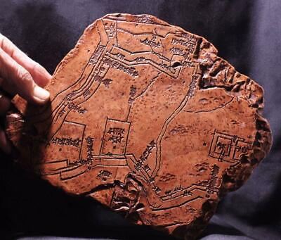 CUNEIFORM MAP Tablet 1300 BC Map of Ancient Nippur reproduction