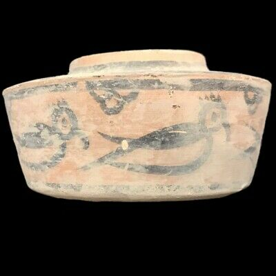 Roman Indus Valley Polychrome Storage Vessel, Rare Ancient Artifact (8)