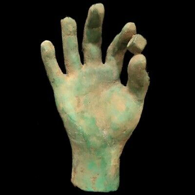Ancient Roman Bronze Life Sized Hand Statue- 200-400 Ad (1)