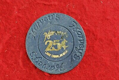 Harvey's South Lake Tahoe (state line), NV  25c  Casino Chip
