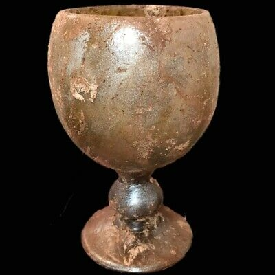 VERY RARE LARGE ANCIENT ROMAN GLASS VESSEL 1st Century A.D. (5) Large Over 14 Cm