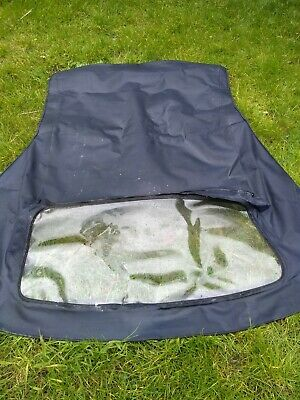 BMW E36 Convertible roof hood soft top in blue.