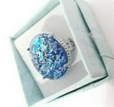 Ring Women Cute Blue 925 Silver Accessories Fashion Lady finger Nice jewelry