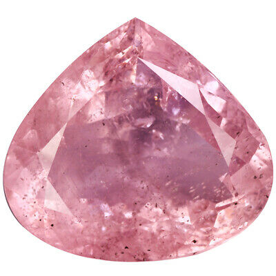 48.60Ct First-class Pear cut 28 x 26 mm 100% Natural Rose Pink Morganite