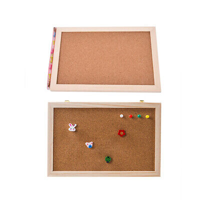 KAV Brown Cork Notice Office Memo School with 6 Push Pins Classic Wood Natural Frame Board 300MM x 400MM various sizes to choose from