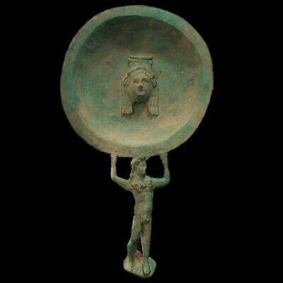 ROMAN ANCIENT BRONZE MIRROR 200-400 AD (1) LARGE OVER 36 Cm Tall !!!!