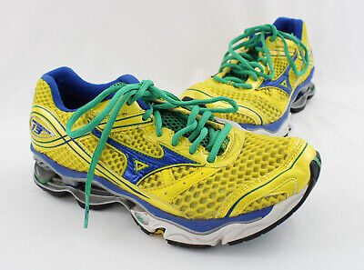 watch 0394b f0133 Mizuno Wave Creation 13 Yellow Green Blue Athletic Sneakers Size 7.5
