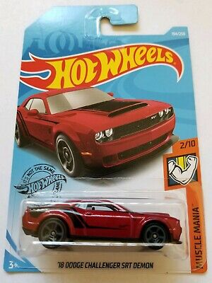 2019 Hot Wheels Muscle Mania 2/10 - '15 Dodge Challenger SRT Demon (Red)